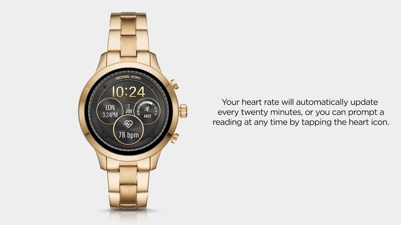 fb696072477 Michael Kors Access Runway Smartwatch | Using Heart Rate - YouTube