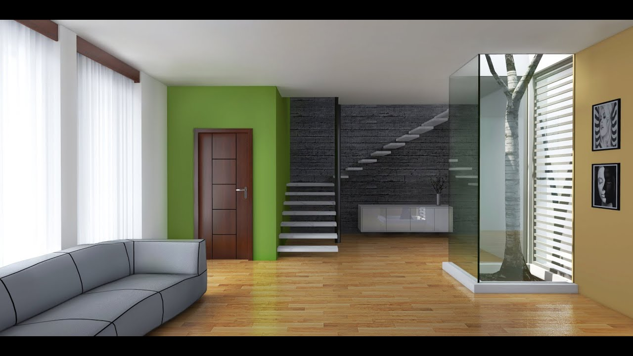 Artlantis interior render youtube for Rendering gratis