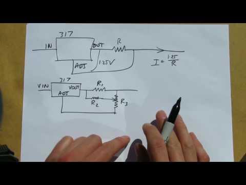 LM317 adjustable current source/regulator
