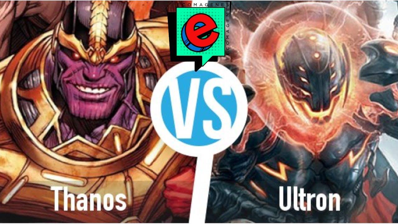 thanos vs ultron quien gana?