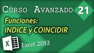 Funciones INDICE y COINCIDIR   Excel 2013 Curso Avanzado #21 thumbnail