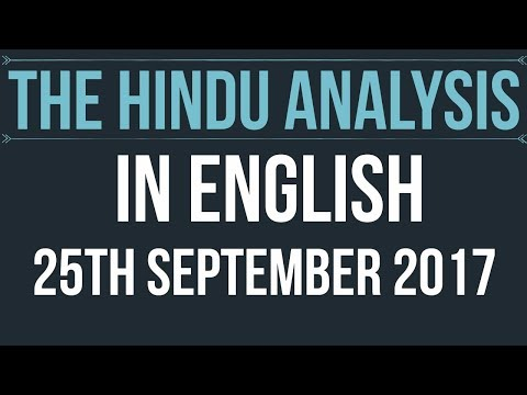 English 25 September 2017-The Hindu Editorial News Paper Analysis- [UPSC/ SSC/ RBI Grade B/ IBPS]