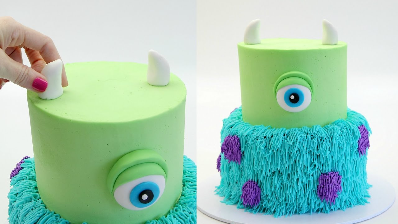 How To Make A MONSTERS INC Cake YouTube