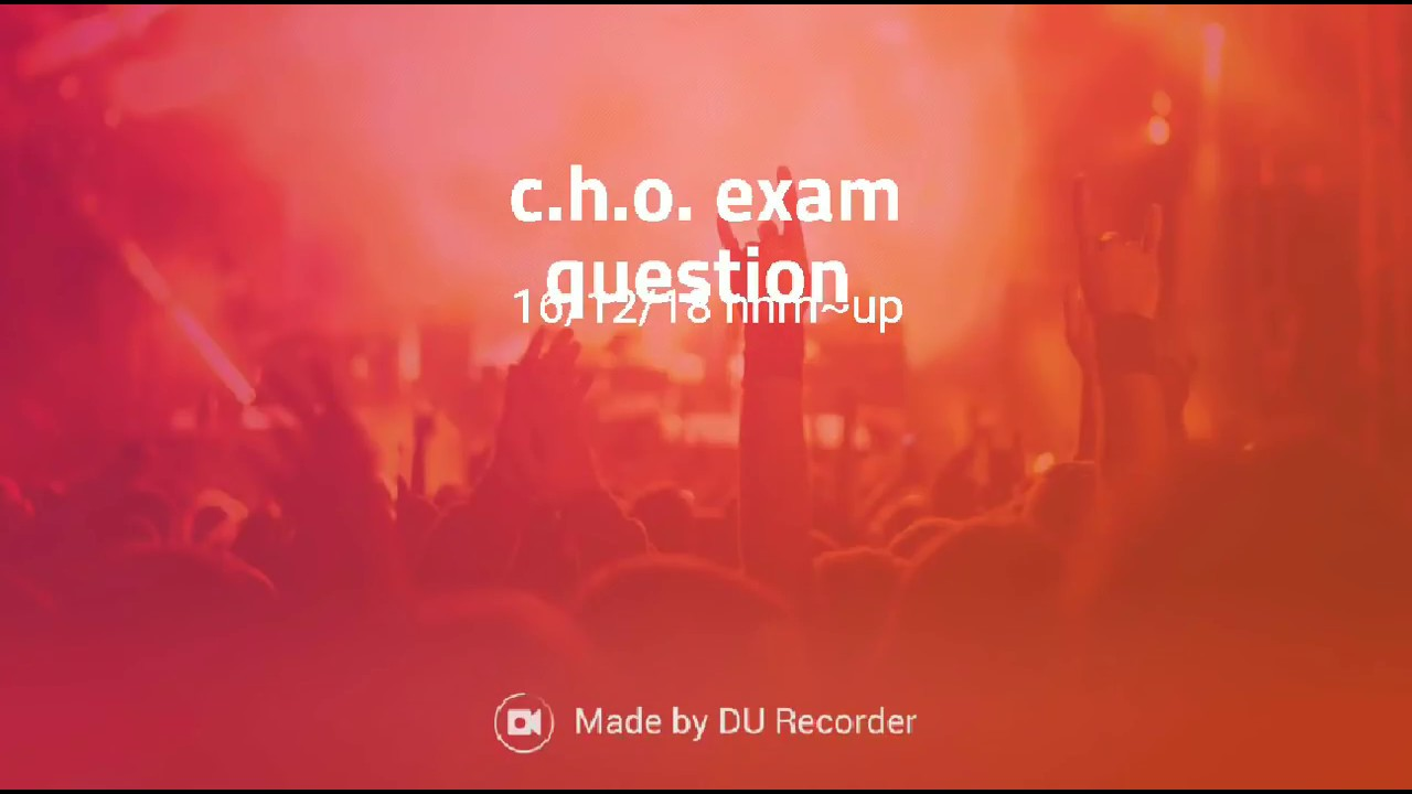 CHO 16/12/2018 EXAM QUESTION PAPER NHM UP - Youtube Video
