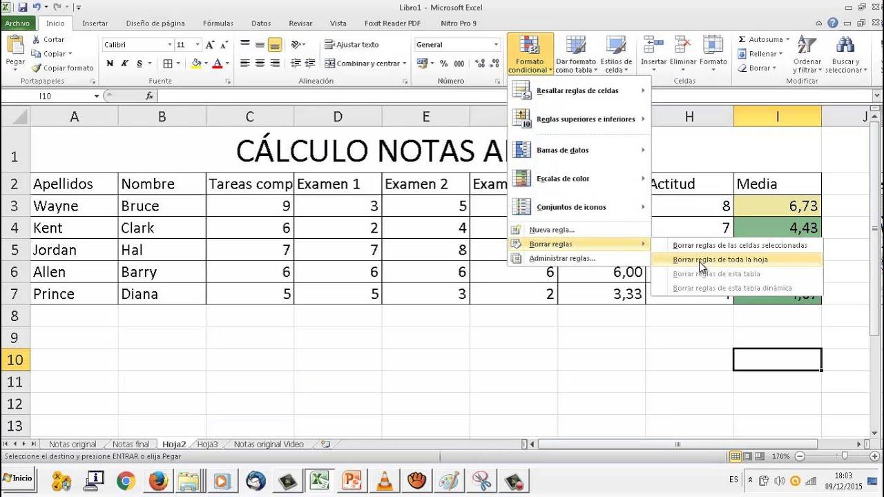 B Formato Condicional 2 Hoja De Calculo Excel Oace Fpb2