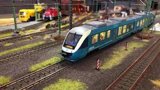 Modelleisenbahn H0 (Besuch bei Moba Chris) Schöne lange Züge...