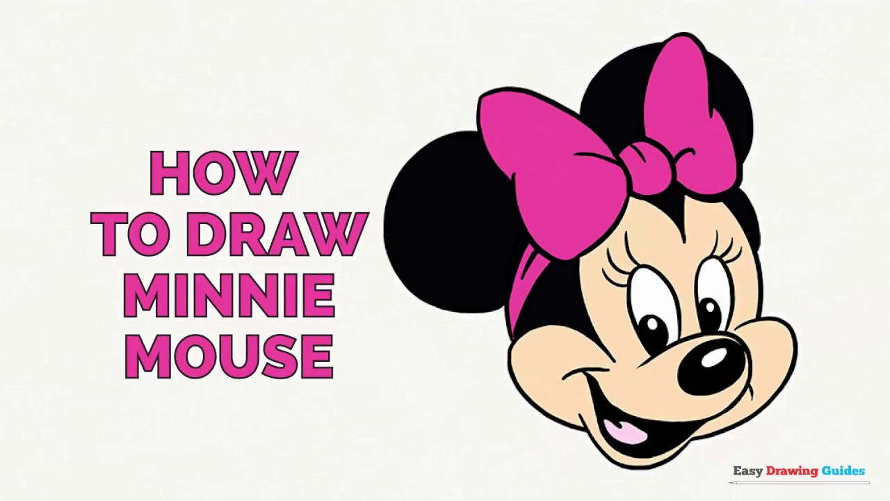 How To Draw Minnie Mouse Step By Step For Kids