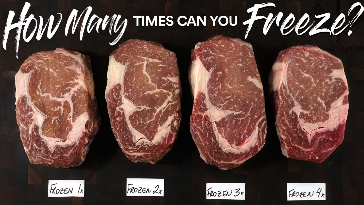 How Many Times Can You Freeze A Steak Youtube