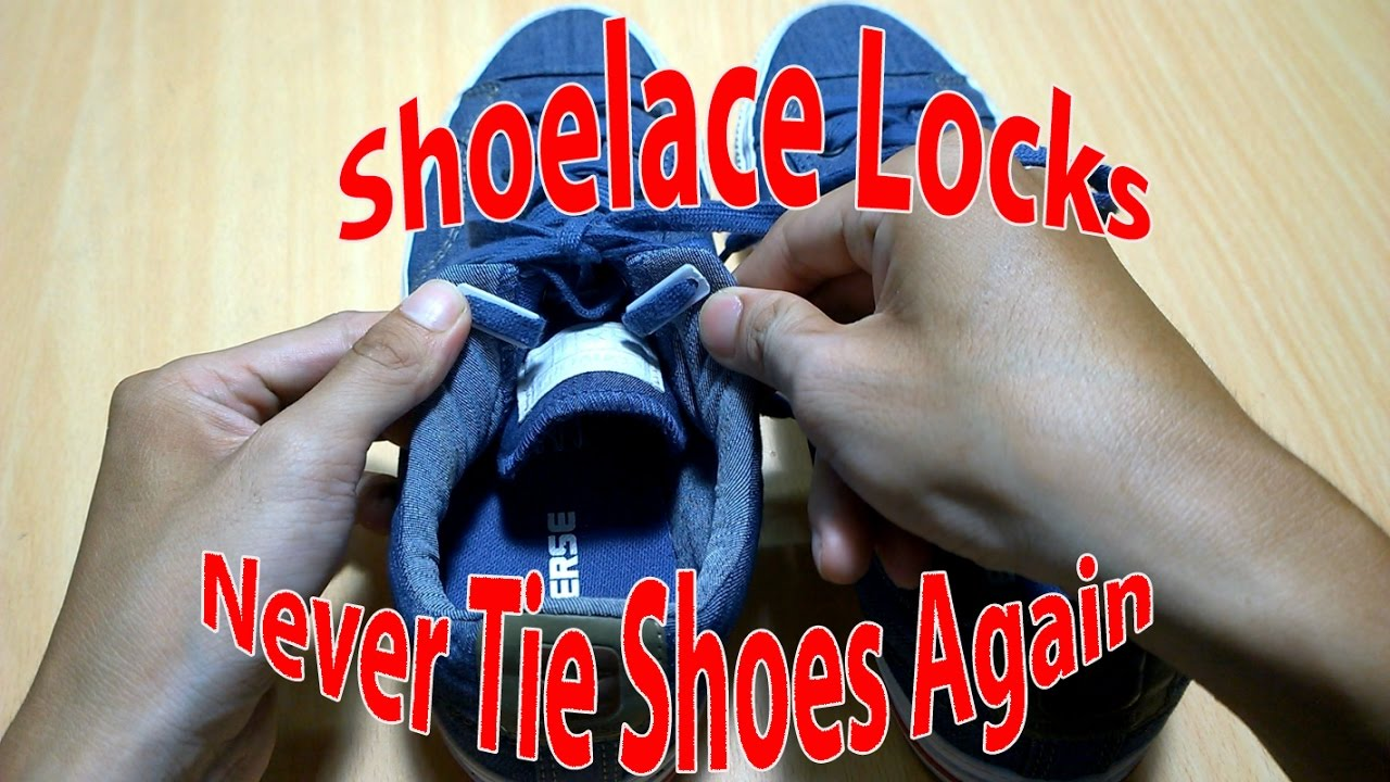 973790c034a Shoelace Locks - Never Tie Your Shoes Again - YouTube