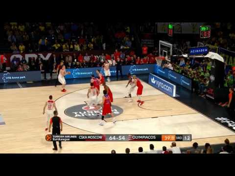 Olympiacos' 14 three pointers against CSKA Moscow in the semi-final