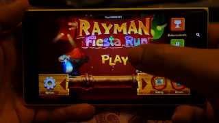 Rayman Fiesta Run Gameplay on Nokia Lumia 1520 - Gaming Performance Demo (Windows Phone 8)