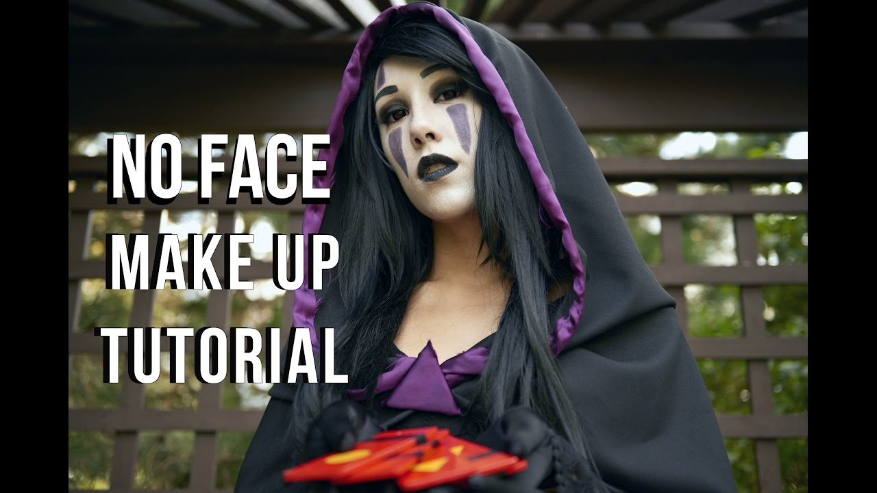 No-Face (Kaonashi) Cosplay Make-up Tutorial ~Spirited Away~ - YouTube