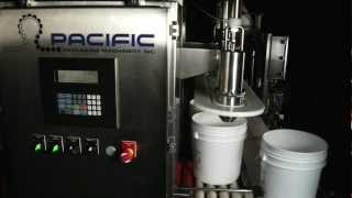 Pacific Packaging - Inline Filler & Lidder, Net Weight for Pails, Food and Beverage Products