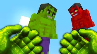 REALISTIC MINECRAFT - STEVE BECOMES THE HULK!