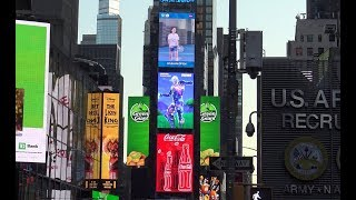 Fortnite Galaxy Skin in Times Square Manhattan New York!