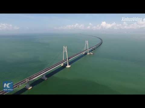 World's longest cross-sea bridge near completion in SE China