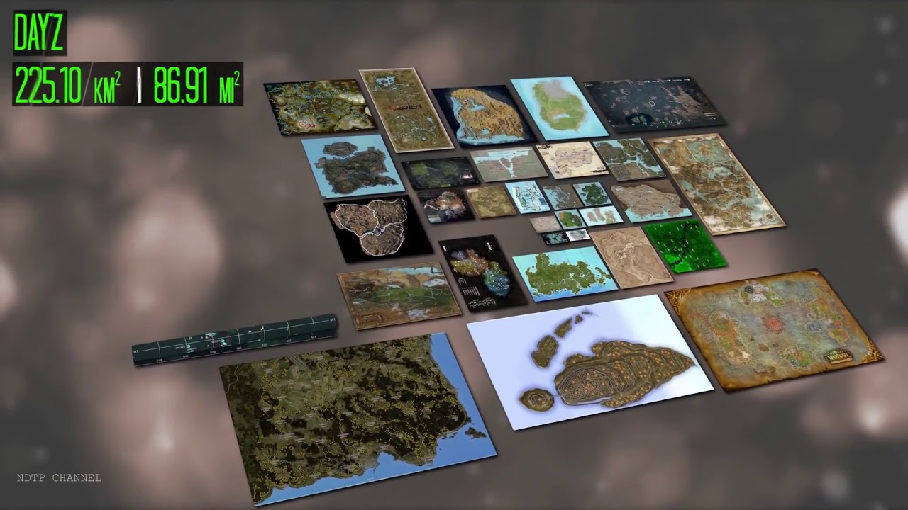 Video Games Map Size Comparison 50+ Games - YouTube on
