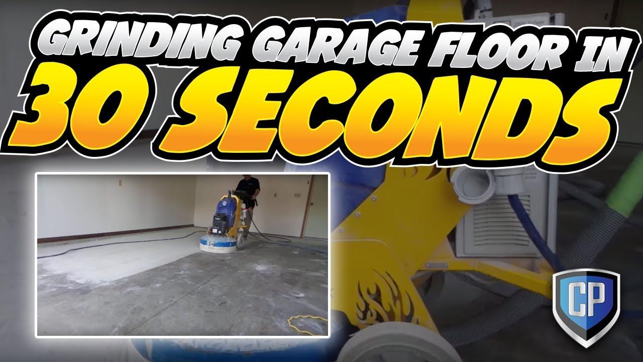 grinding garage floor in 30 seconds