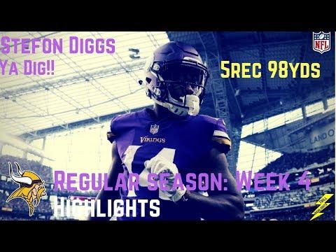 Stefon Diggs Week 4 Regular Season Highlights Ya Dig! | 10/01/2017