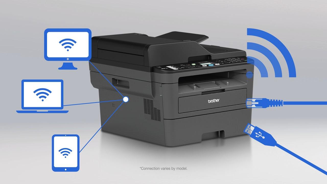Brand New Brother MFC-L2710DW B/&W Wireless Duplex Laser All-In-One Printer Fax