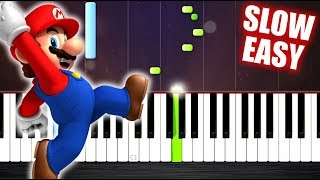 Super Mario Theme - SLOW EASY Piano Tutorial by PlutaX