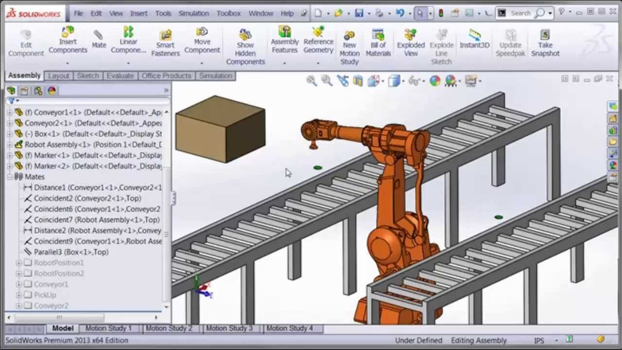 SolidWorks Tutorial: How to Animate a 6 DOF (degrees of freedom) Robot