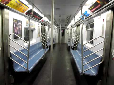 interior of an r142 2 from south ferry to franklin st youtube. Black Bedroom Furniture Sets. Home Design Ideas
