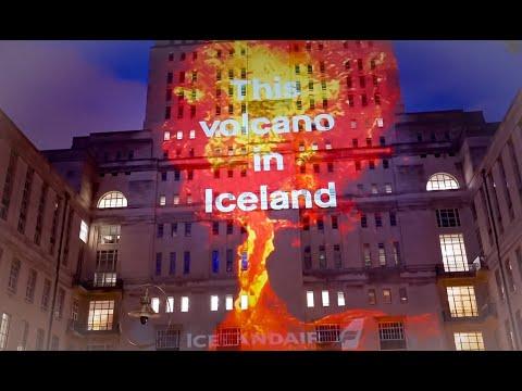 Volcano projections in London, UK  | Icelandair
