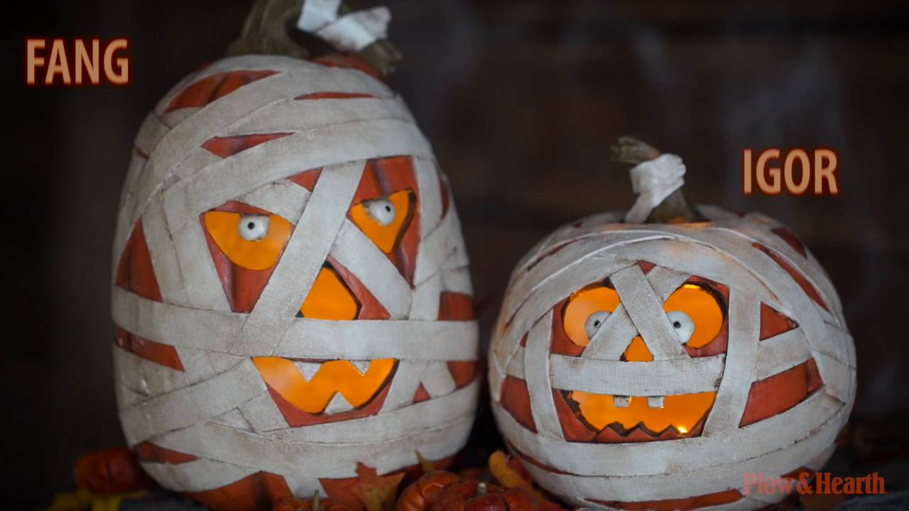 Lighted Mummy Pumpkin SKU# 65A31 - Plow & Hearth