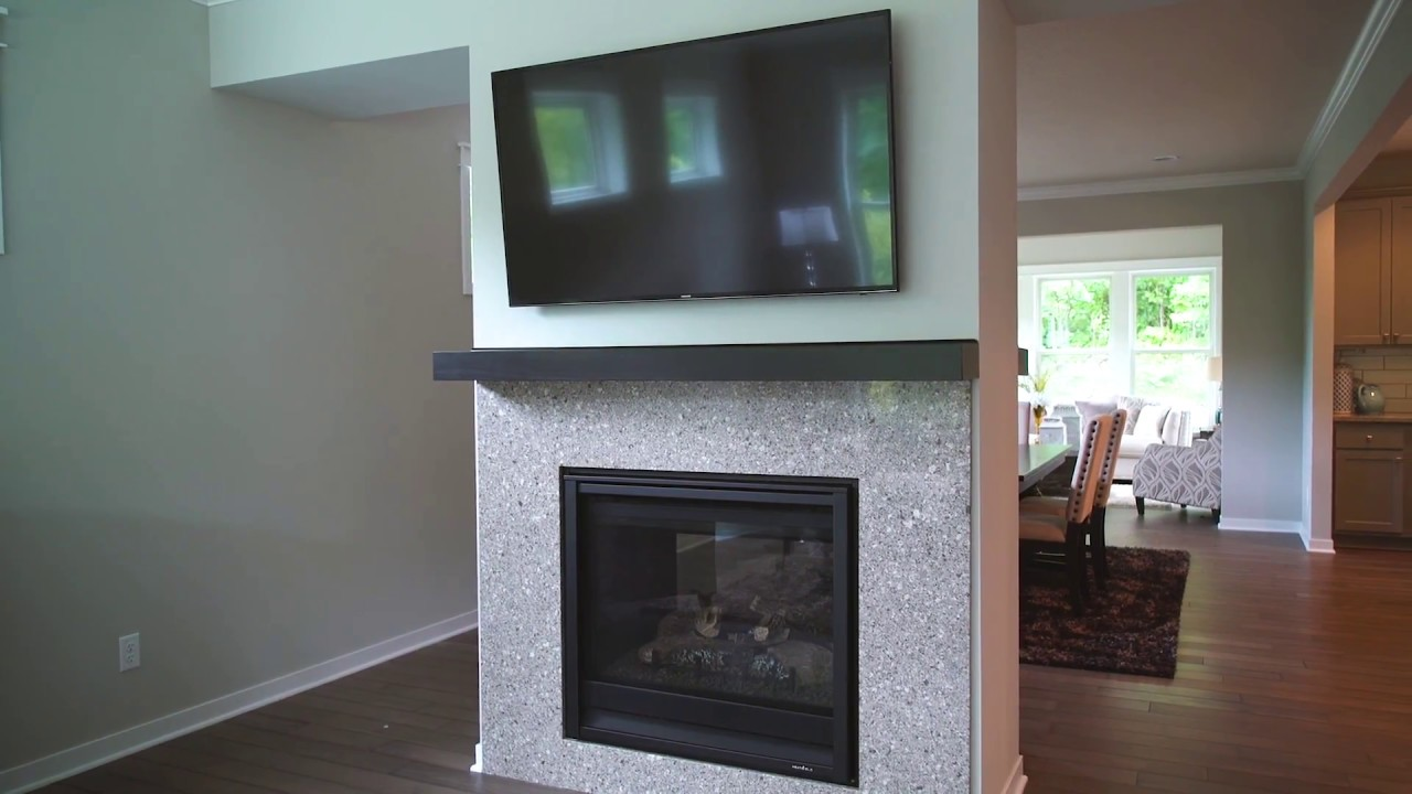 how to mount a tv above a fireplace youtube. Black Bedroom Furniture Sets. Home Design Ideas
