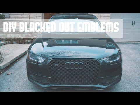 DIY BLACKED OUT EMBLEMS | APR AUDI S4