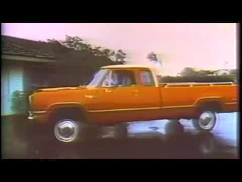 1975 Dodge Power Wagon Club Cab Truck TV Commercial Featuring George Blanda