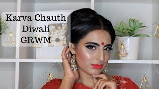 Karva Chauth | Diwali 2017 GRWM | Indian Bridal | Taur Beauty