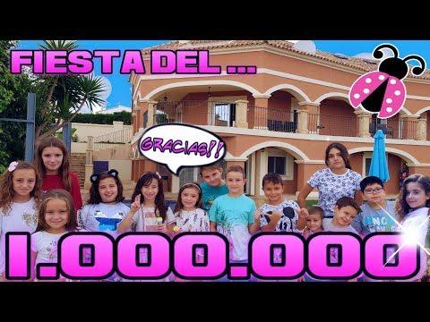 Fiesta del millón en la mansión de los mini Youtubers