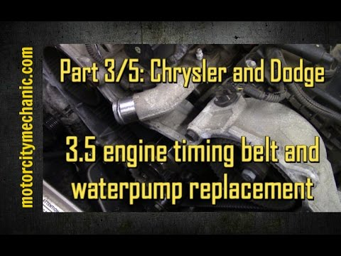 part 3/5 2005-2010 chrysler 300 and dodge charger 3 5 timing belt and  waterpump