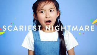 100 Kids Tell Us Their Scariest Nightmare   100 Kids   HiHo Kids