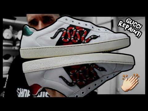 RESTORING HIGH END SNEAKERS! (GUCCI ACE SNAKES)