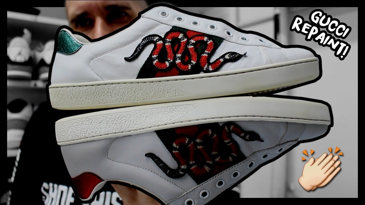 4d49378942b RESTORING HIGH END SNEAKERS! (GUCCI ACE SNAKES) - YouTube