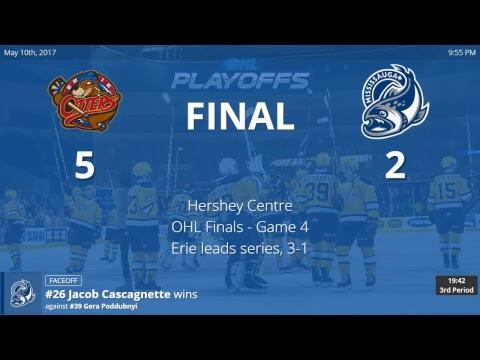 Erie Otters vs. Mississauga Steelheads - Game 4 - OHL Championship Finals