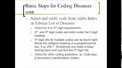 How to Assign ICD 9 Diagnosis Codes