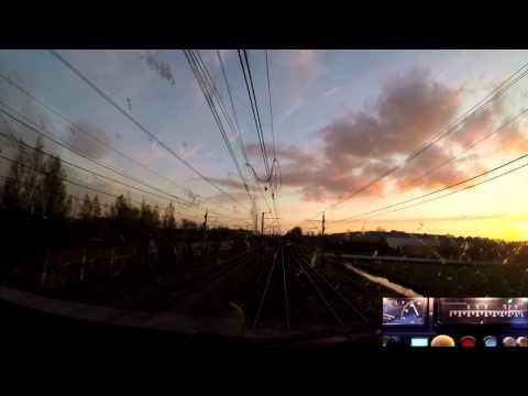 A train driver's view: Utrecht CS - Rotterdam CS, ICM, 30-Apr-2016.