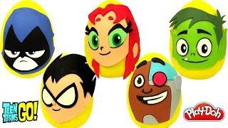 Teen Titans Go Filmi 5 Sürpriz Yumurta Oyun Hamuru Teen Titans Oyuncakları
