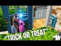 Trick or Treating in Fortnite Isn't Very Rewarding | Fortnitemares Social Experiment Halloween 2018