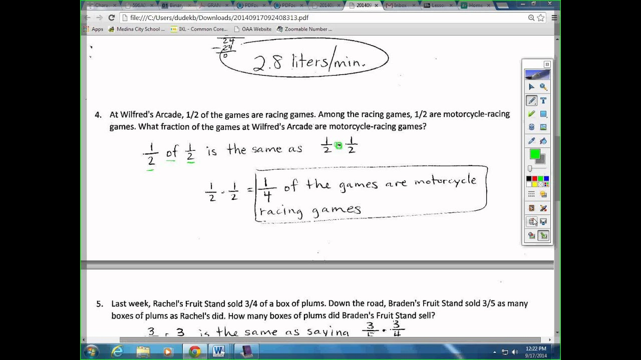 Word Problems With Rational Numbers