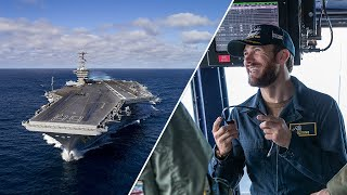 IN A DAY | AIRCRAFT CARRIER - Scott Eastwood and the Made Here team aboard the USS Nimitz