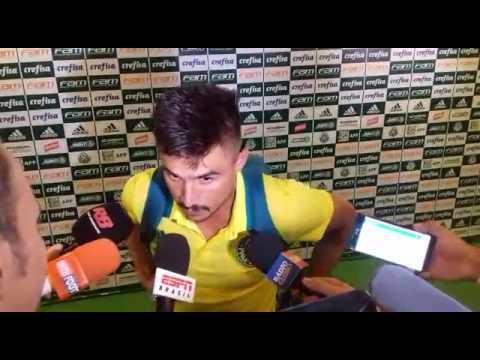 Willian Bigode pós jogo Palmeiras 1x1 Ponte Preta 29/01/2017