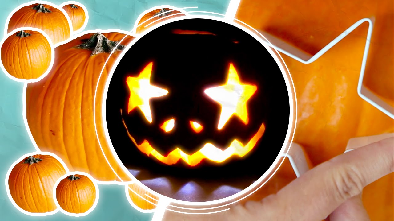Pumpkin Carving Using A Drill And Cookie Cutters Youtube