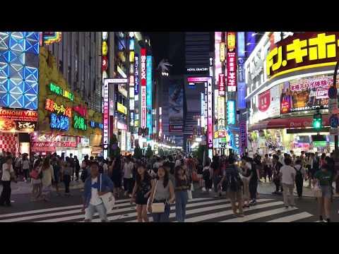 Tokyo Night Walk - Ginza, Roppongi, Minato-ku, Shinjuku