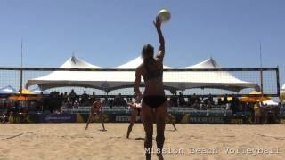 2014 AVP Manhattan Beach Open Walsh Jennings Ross vs Shaw Pazo Pérez