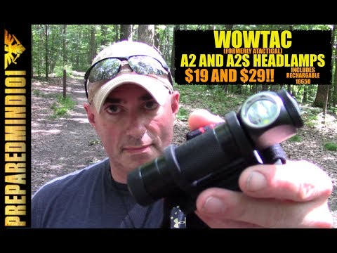 Wowtac A2 and A2S Headlamps ($19-$29) w/ Rechargable 18650 - Preparedmind101